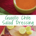 collage of dressing and ingredients with Pinterest text