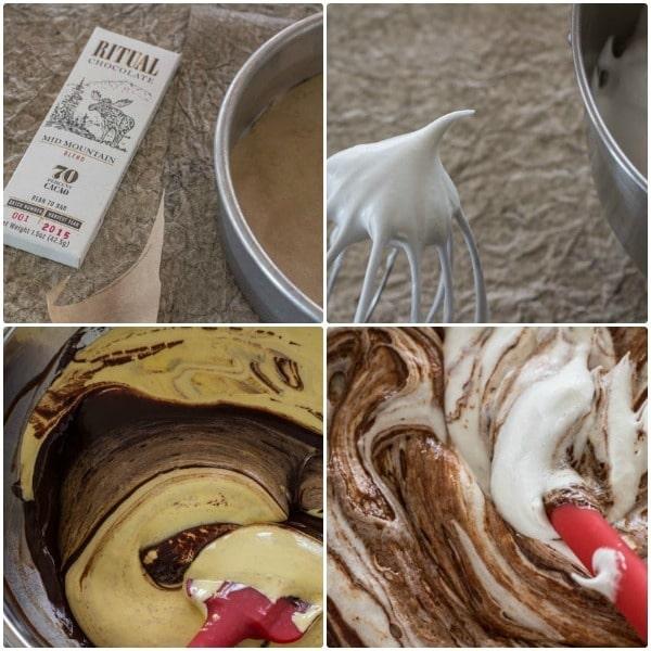 Bittersweet Chocolate Torte prep steps