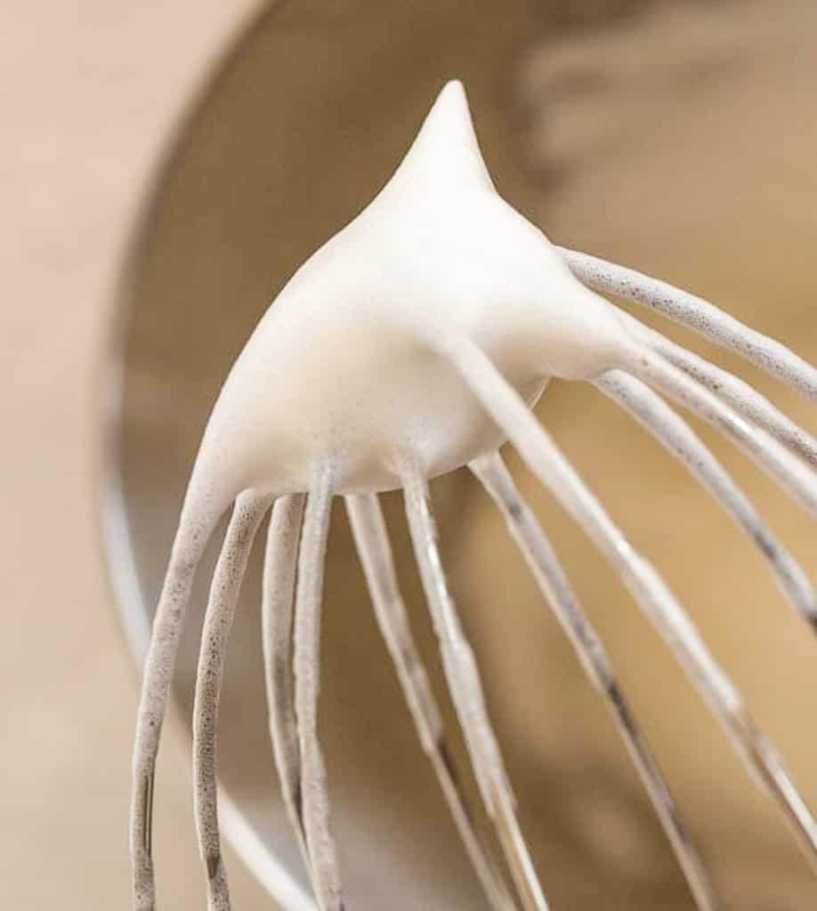 firm egg whites on beater demo