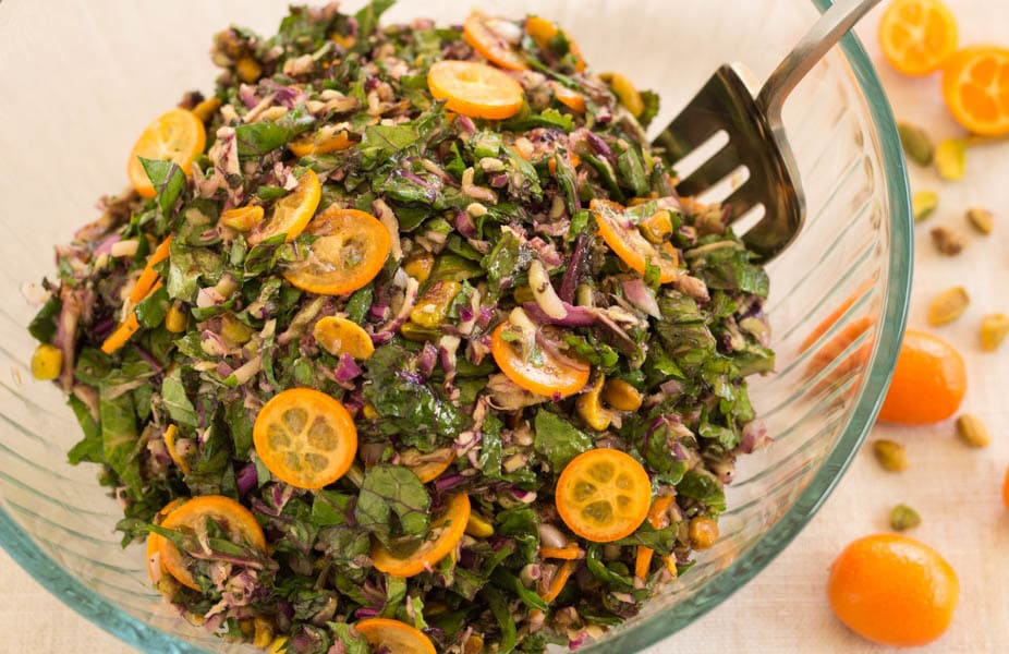 Kale Sprout and Kumquat Slaw