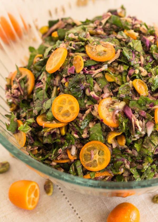 Kale Sprout and Kumquat Salad