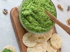 Garlic Scape and Mess O' Greens Pesto