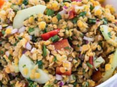 Red Lentil Confetti Salad (Vegan)