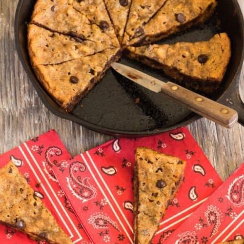 Skillet Chocolate Chip Walnut Cookie | Letty's Kitchen