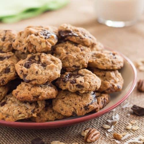 Gluten Free Cowboy Cookies on plate