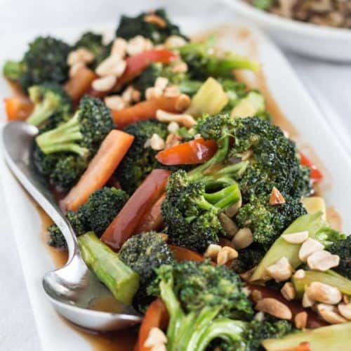 Easy Sweet and Sour Broccoli with Peanuts