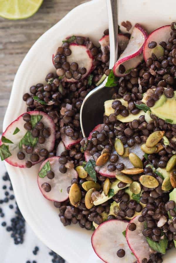 Lentil, Avocado, and Radish Salad