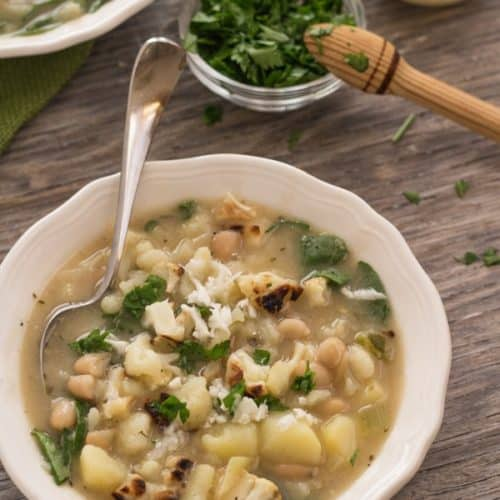 Roasted Cauliflower and White Bean Chowder