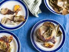 Lemon Roasted Artichokes
