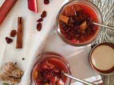 Rhubarb Cranberry Honey Chutney