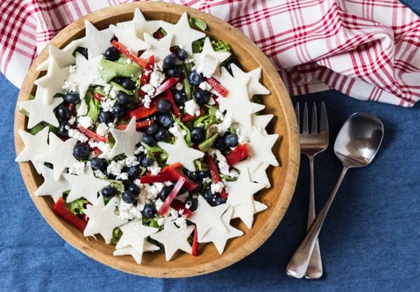 Red, White, and Blueberry Salad | Letty's Kitchen