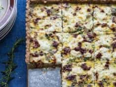 Herbed Goat Cheese and Caramelized Onion Tart