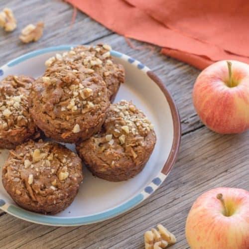 Apple Cinnamon Quinoa Muffins, vegan and gluten-free | Letty's Kitchen
