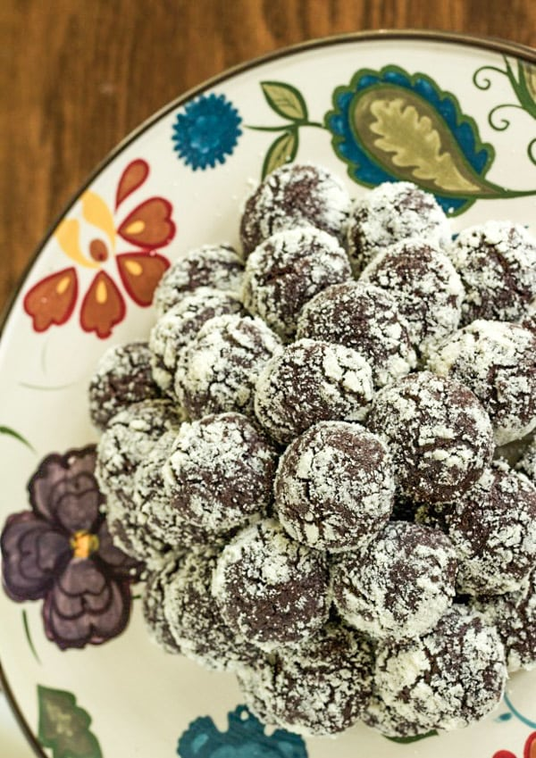 Gluten Free Chocolate Mint Cookies for Healthy Holiday Cookies