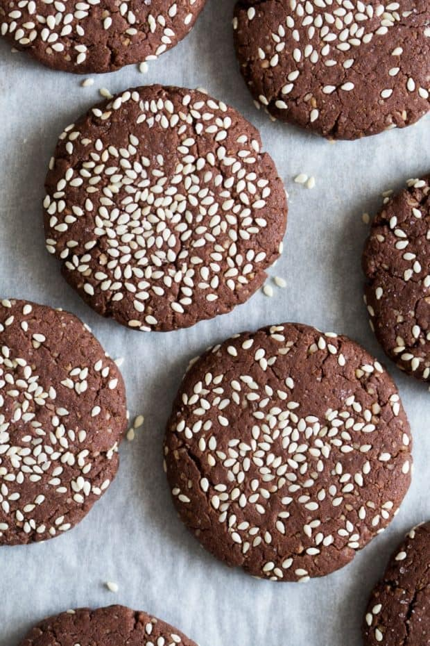 Chocolate Tahini Cookies for Healthy Holiday Cookies