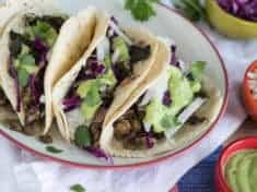 Spicy Greens and Lentil Tacos with Guacamole Sauce | Letty's Kitchen