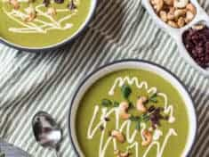Spicy Cashew Spring Greens Soup {vegan}