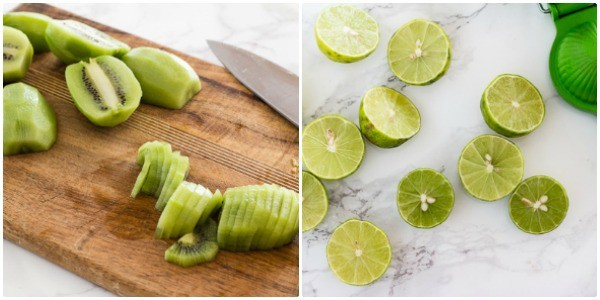 Kiwis and limes for Creamy Vegan Kiwi Lime Avocado Pie | Letty's Kitchen