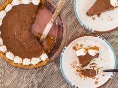 Chocolate Honey Pie with Cinnamon Graham Crust