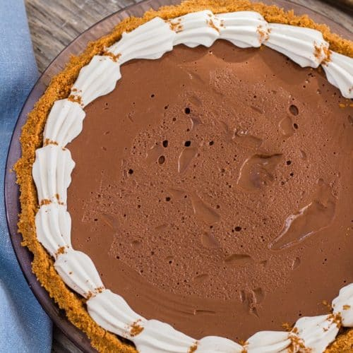 Whole Chocolate Honey Pie with Cinnamon Graham Crust | Letty's Kitchen