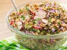 French Green Lentil and Quinoa Salad vertical