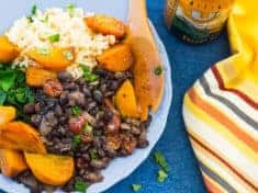 Golden Beets with Black Beans and Dried Cherries