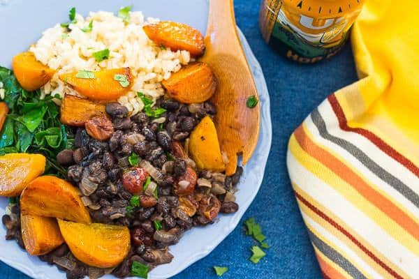 Golden Beets with Black Beans