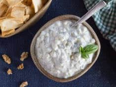 Light and Creamy Cucumber Basil Raita Dip