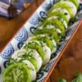 Green Zebra Tomato Caprese Salad for Pinterest