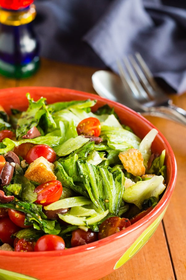 Italian Panzanella Salad with Kalamata Olives and Cherry Tomatoes | Letty's Kitchen