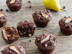Double Chocolate Maple Pear Muffins