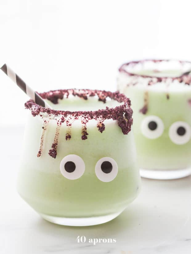 Cucumber Jalapeño Margaritas for 16 Healthy Vegetarian Halloween Picks