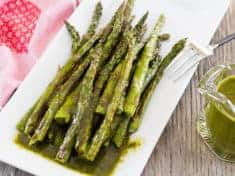 Roasted Asparagus with Cilantro Chimichurri Sauce
