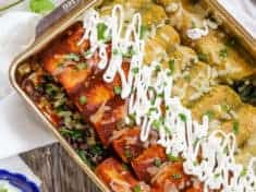 Amazing Spinach and Black Bean Enchiladas