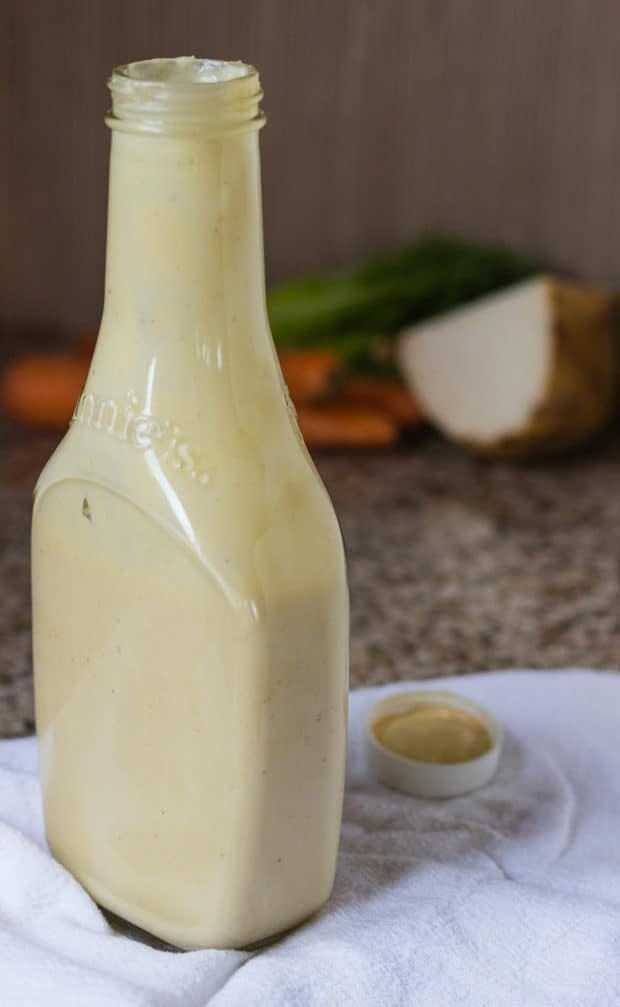 Mellow Miso Salad Dressing in bottle