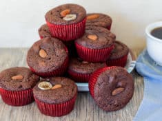 Almond Flour Banana Chocolate Muffins