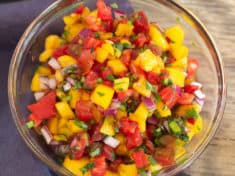 Spicy Peach and Tomato Salsa
